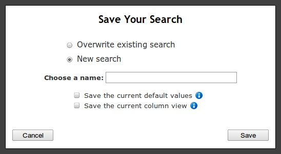 Save Search New